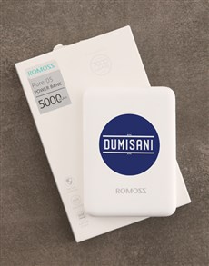 gifts: Personalised Blue Dot Romoss Power Bank!