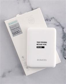 gifts: Personalised Name Romoss Power Bank!