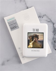 gifts: Personalised Photo Romoss Power Bank!