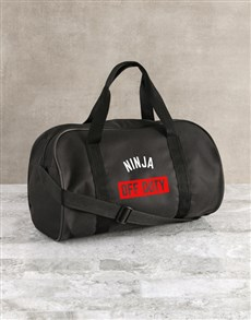 gifts: Personalised Off Duty Black Sports Bag!