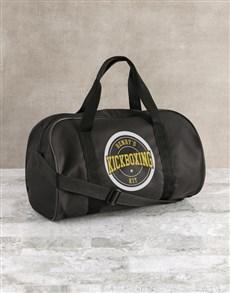 gifts: Personalised Black Kit Bag!