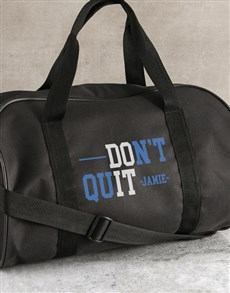 gifts: Personalised Do It Black Gym Bag!