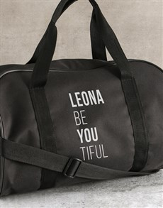 gifts: Personalised Be You Tiful Black Gym Bag!