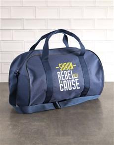 gifts: Personalised Rebel Navy Sports Bag!