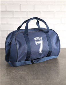 gifts: Personalised Team Player Navy Sports Bag!
