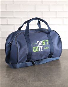 gifts: Personalised Do It Navy Gym Bag!