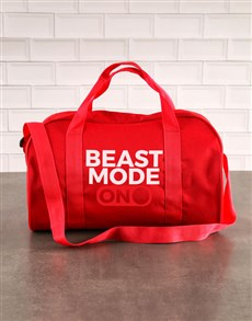 gifts: Personalised Beast Mode Navy Gym Bag!
