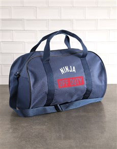gifts: Personalised Off Duty Navy Sports Bag!