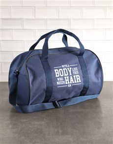 gifts: Personalised Body Like This Navy Sports Bag!