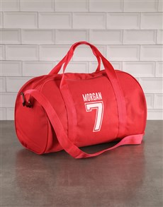 gifts: Personalised Team Player Red Sports Bag!
