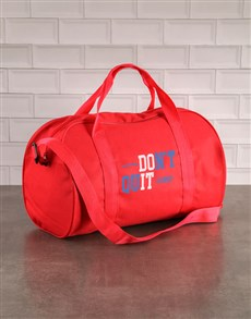gifts: Personalised Do It Red Gym Bag!