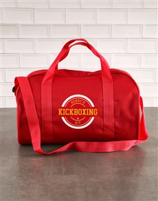 gifts: Personalised Red Kit Bag!