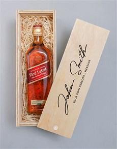 gifts: Personalised Monogram Johnnie Walker Crate!