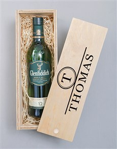 gifts: Personalised Glenfiddich Monogram Crate!