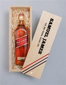 gifts: Personalised Johnnie Walker Printed Crate!