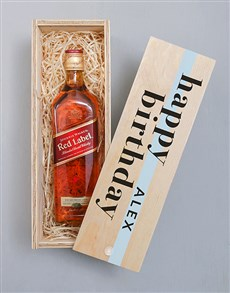 gifts: Personalised Johnnie Walker Red Printed Crate!