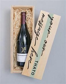 gifts: Personalised Diemersfontein Wooden Crate!