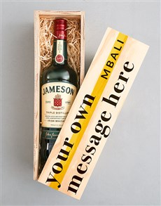 gifts: Personalised Jameson Wooden Crate!
