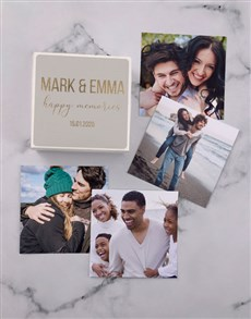 gifts: Personalised Golden Memories Photo Box!