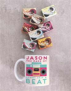 gifts: Personalised Retro Heartbeat Mug!