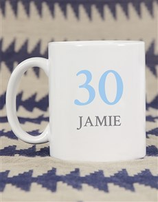 gifts: Personalised Number Birthday Mug!