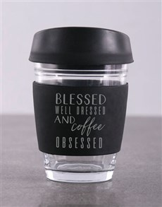gifts: Personalised Blessed and Well Dressed Travel Mug!