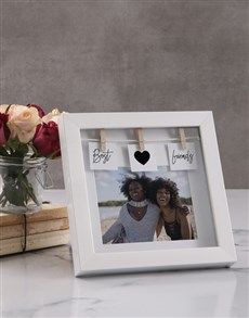 Picture of Personalised Best Friends Peg Photo Frame!