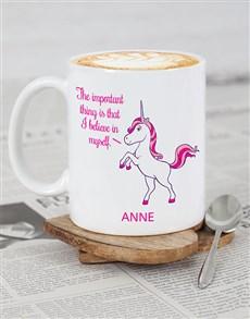 gifts: Personalised Unicorn Motivation mug!