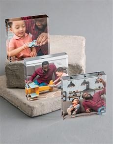 gifts: Personalised Set of 3 Acrylic Photo Blocks!