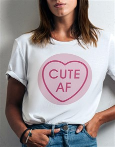 gifts: Personalised Sweetheart Ladies White Tshirt!