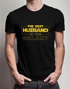 gifts: Personalised Best Husband Black Tshirt!