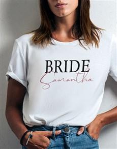 gifts: Personalised Bride White Tshirt!