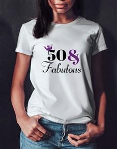gifts: Personalised Fabulous Birthday Ladies T Shirt!