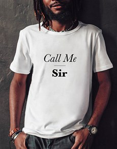 gifts: Personalised Call Me T Shirt!