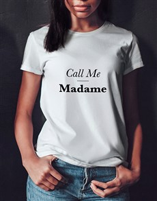 gifts: Personalised Call Me Ladies T Shirt!
