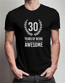 gifts: Personalised Years of Being T Shirt!