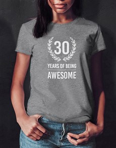 gifts: Personalised Years of Being Ladies T Shirt!