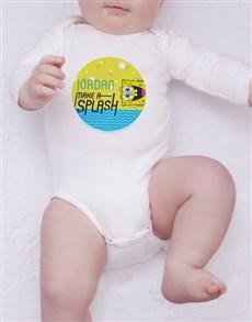 gifts: Personalised SpongeBob Splash Onesie!