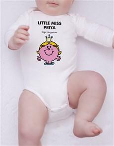gifts: Personalised Little Miss Princess Onesie!