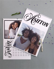 gifts: Personalised Classic Wall Calendar!
