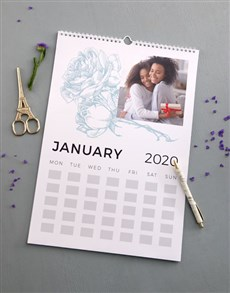 gifts: Personalised Botanical Memories Wall Calendar!