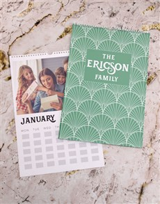 gifts: Personalised Green Family Wall Calendar !