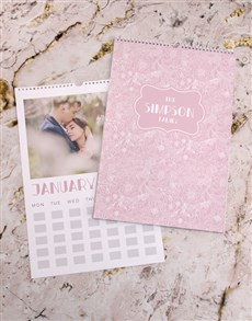 gifts: Personalised Pretty Pink Wall Calendar!