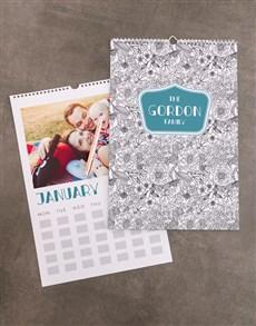 gifts: Personalised Flower Sketch Wall Calendar!