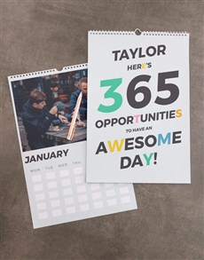 gifts: Personalised Opportunities Wall Calendar!