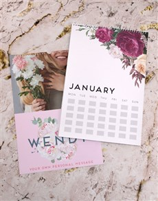 gifts: Personalised Peony Wall Calendar!