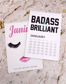 gifts: Personalised Girl Power Wall Calendar!