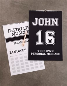 gifts: Personalised Sporty Wall Calendar!