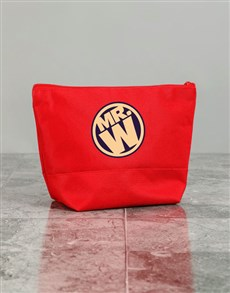 gifts: Personalised Mens Mister Red Wash Bag!