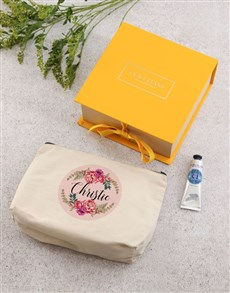 gifts: Personalised Loccitane Glitter Heart Cosmetic Bag!
